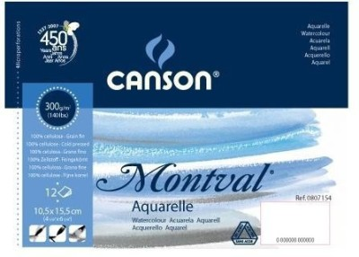Canson Montval Unruled 10.5 x 15.5 CM Watercolor Paper