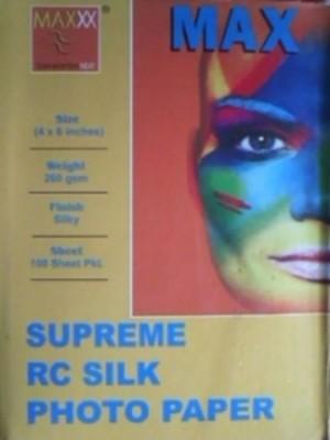Max 4*6 Supreme RC Glitter Satin 260gsm Photo Paper