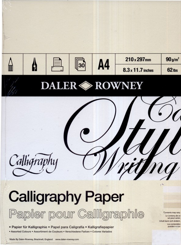 Daler-Rowney A4 Calligraphy Paper
