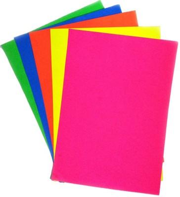 Ziggle Fluorescent Unruled A4 Craft paper