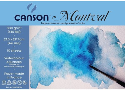 Canson Montval 300 Gsm A4 Pack Of 10 Sheets Sketch Pad