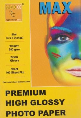 Max 4*6 Premium High Glossy 200gsm Photo Paper