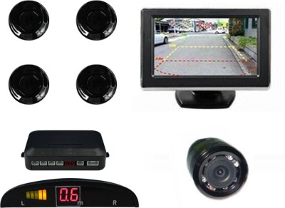 Speedwav 196320 Car Parking Sensors-Black+4.3 Inch Screen & Camera--U Parking Sensor(Ultrasonic Systems)