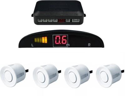 Celix PARKSENS1c19 Car Reverse Parking Sensor with LED Display 200-30cm Range- White Parking Sensor