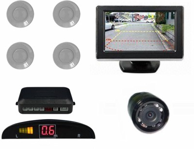 Speedwav 196322 Car Parking Sensors-Silver+4.3 Inch Screen & Camera-U Parking Sensor(Ultrasonic Systems)