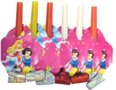 Priyals WhstlPrncssThm001 Party Blowouts(Pack of 6)