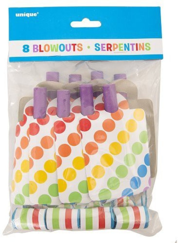 Unique 47122 Party Blowouts(Pack of 8)