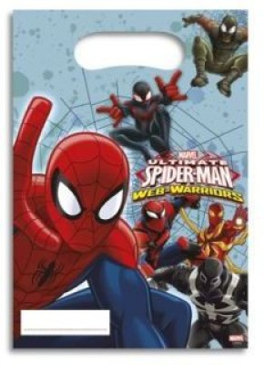 Marvel Ultimate Spiderman Web Warriors Printed Party Bag