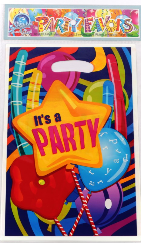 Funcart Fun & Frolic Party Lootbag Printed Party Bag(Multicolor, Pack of 6)