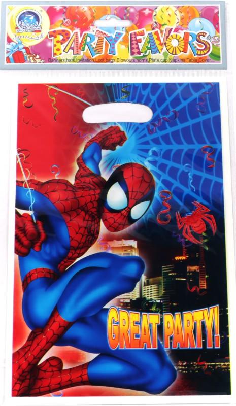 Funcart Spiderman Lootbag Printed Party Bag(Multicolor, Pack of 6)
