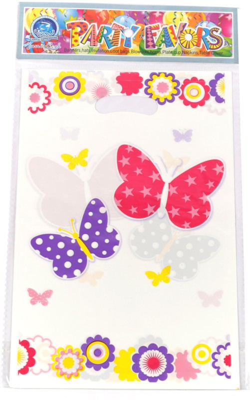 Funcart Flying Butterfly Lootbag Printed Party Bag(Multicolor, Pack of 6)