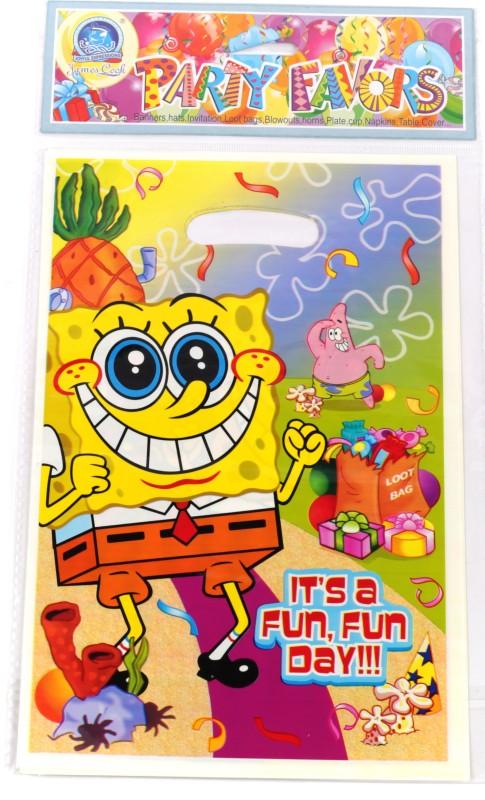 Funcart Spongy Bob Lootbag Printed Party Bag(Multicolor, Pack of 6)