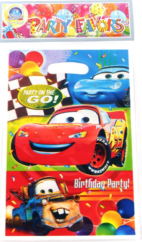 Funcart Cars party Lootbag Printed Party Bag(Multicolor, Pack of 6)