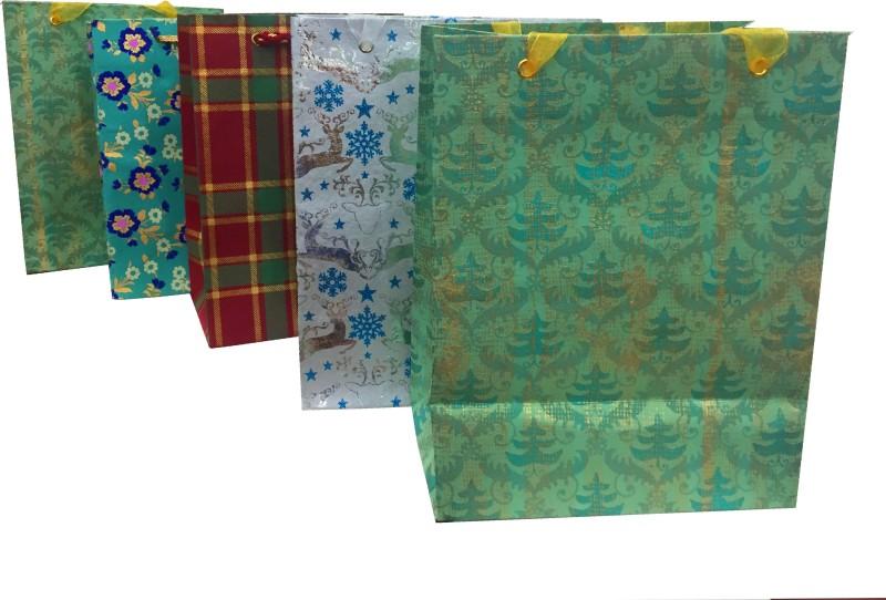 Gayatri Creations Printed Party Bag(Multicolor, Pack of 5)
