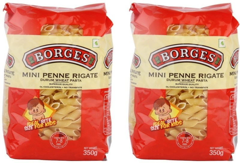 Borges Mini 350 gm (Pack of 2) Penne Rigate Pasta(350 g)