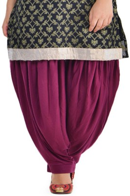 Pietra Cotton Solid Patiala at flipkart