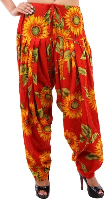 Krishnam Cotton Floral Print Patiala at flipkart