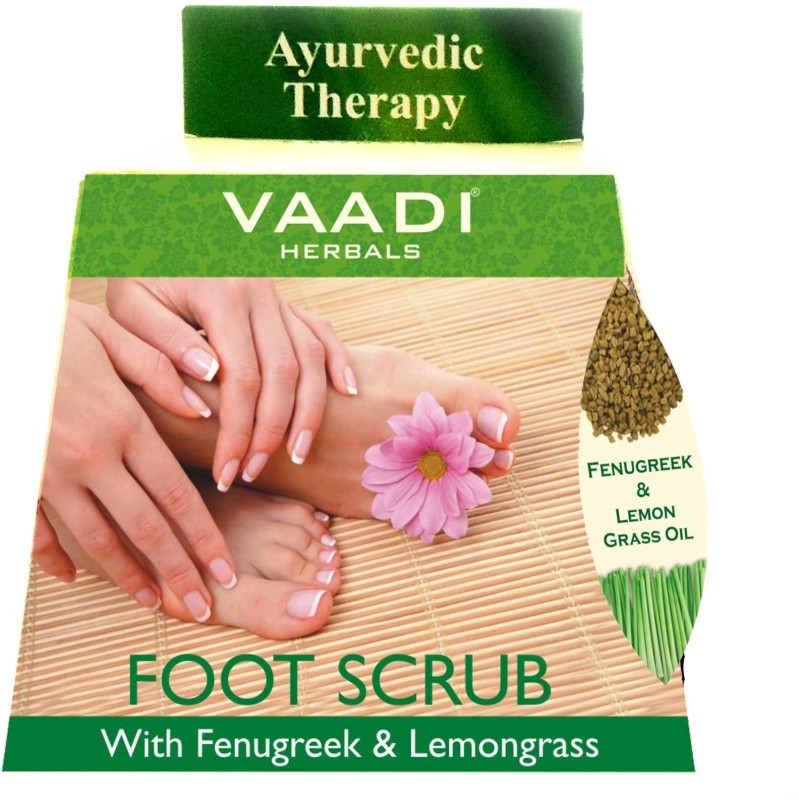 Vaadi Herbals Foot Scrub with Fenugreek & Lemongrass Oil - Pack of 4