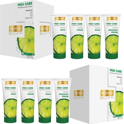 Richfeel Pedi Care with Natural Lemon Etracts (3 Appilcations) (Pack Of 2)(200 g, Set of 4)