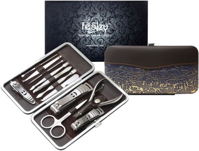 Foolzy 13 in 1 Stainless Steel Nail Clippers Pedicure Kit