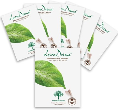 LuxaDerme Foot Hydration Socks (6 Pouch)