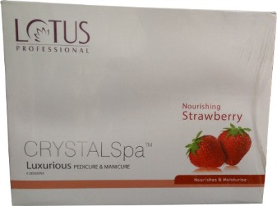 Lotus Professional Crystal Spa Strawberry Luxurious Pedicure & Manicure Kit(495 g, Set of 6)