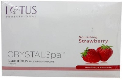 Lotus Professional Crystal Spa Luxurious Pedicure and Manicure Nourishing Strawberry