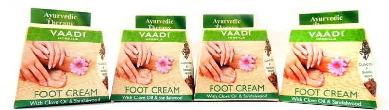 Vaadi Herbals Foot Cream with Clove & Sandal Oil - Pack of 4