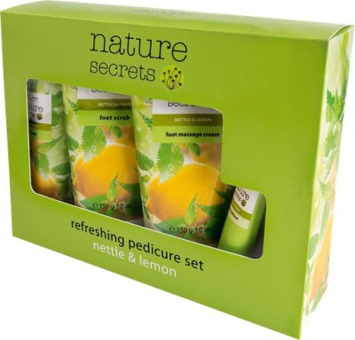 Nature Secrets Refreshing Pedicure Set Nettle & Lemon 4pcs