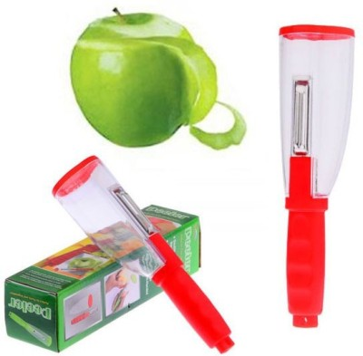 Vmore No Mess Cylindrical Vegetable Fruit Peeler Slicer Cutter NA Peeler
