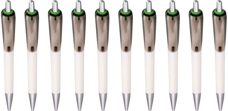 Zarsa Classic Green Roller Ball Pen(Pack of 10, Blue)