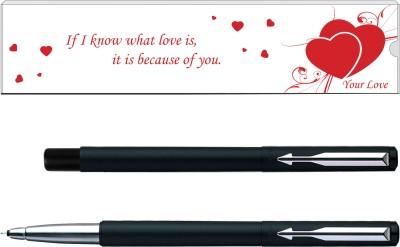 Parker Vector Matte Black Valentine Edition CT Roller Ball Pen