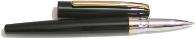 Perfect Black Contemporary With Gold Trim Roller Ball Pen