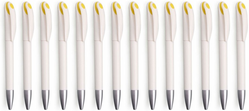 Zarsa Classic Yellow Roller Ball Pen(Pack of 14, Blue)