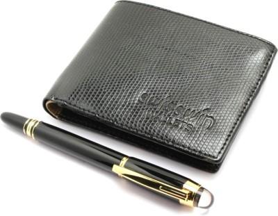 SRPC PREMIUM QUALITY MENS WALLET & EXCLUSIVE DESIGNER ROLLERBALL Pen Gift Set