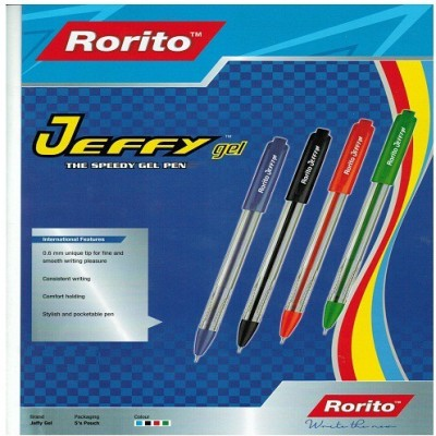RORITO JEFFY GEL PEN PACK OF 50 PCS Gel Pen(Pack of 50, BLUE,BLACK)