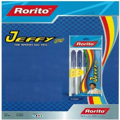RORITO JEFFY GEL PEN BLACK PACK OF 80 PCS Gel Pen(Pack of 80, Black)