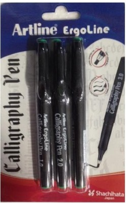 Artline Callrigraph Pen Clip(Pack of 3, Green)