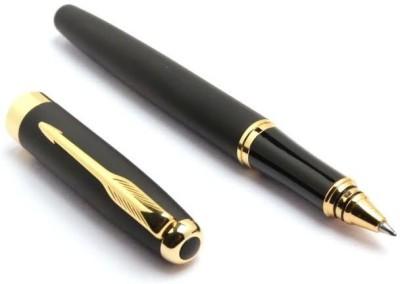 Pearl golden clip on cap Roller Ball Pen
