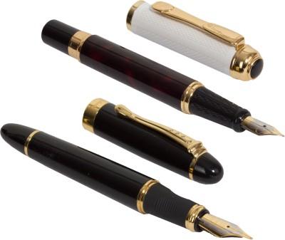 Auteur Auteur Set of Heavy Black and Wine Colour Fountain Pen