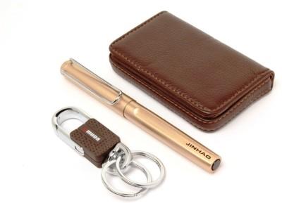 JINHAO DESIGNER KEYCHAIN , ATM WALLET & EXECUTIVE FOUNTAIN Pen Gift Set