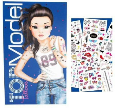 Hamleys Top Model Tattoo Book Stationery Set