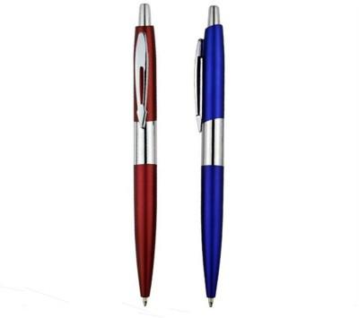 RIF Metal Chrome Pen Red & Blue (Set of 2 Pcs) Ball Pen