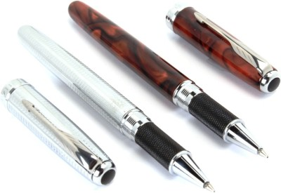 SRPC JINHAO EXECUTIVE SILVER & MARBLE ICONIC ARROW CLIP MIGHTY Roller Ball Pen