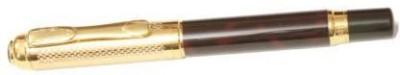 Dikawen Royal Touch 821 BLACK & GOLDEN MESH CAP M NIB Fountain Pen