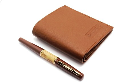 SRPC MENS BOYS LEATHER WALLET & DESIGNER Pen Gift Set