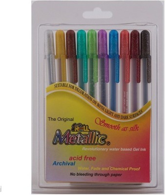 Sakura Gelly Roll Metallic Gel Pen(Pack of 10, Assorted)