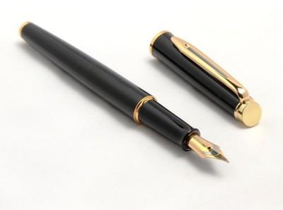 SRPC Honesty Laquar Black Golden Trims Fountain Pen