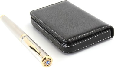 SRPC LEATHER ATM WALLET AND EXECUTIVE JEWEL Roller Ball Pen