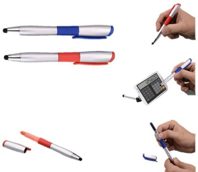 RIF Stylus with Pen and highlighter (Set of 2 Pcs ) Ball Pen